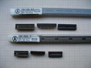 630x IC-Fassungen 120x 20p 20 polig + 510x 28p 28 polig Konvolut bleifrei Auswah
