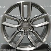 "GENUINE AUDI S3 8V 5 TWIN SPOKE POLISH/GREY 18""INCH SINGLE/SPARE ALLOY WHEEL X1"