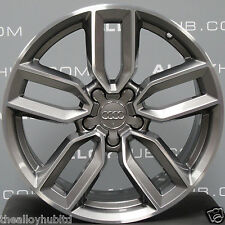 "GENUINE AUDI S3 8V DIAMOND TURNED/GREY 18"" 18INCH ALLOY WHEEL X1,8V0601025M"