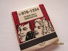 PARTYLINE Adult Talk Line Call Matchbook Vintage unused Matches Advertising