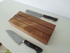Design Messerhalter Messerblock Block Eiche Massiv Holz für Messer NEU