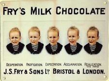 New 20x30cm Frys Fry's Chocolate 5 Boys retro medium metal advertising wall sign