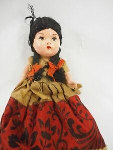 """Antique Composite doll Original dress 9.5"""" x 4"""""""