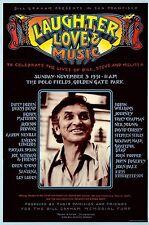 MINT Grateful Dead CSNY Santana 1991 Bill Graham Memorial Poster