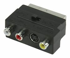 Knnx 28058-commutabile IN/OUT SCART MASCHIO A 3 x Fono RCA + Adattatore S-VIDEO