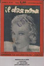 rivista Di Commedie , Lucio Ridenti, Editrice Torinese, Nr.130/1932 Il Dramma Revues