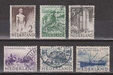NVPH Netherlands Nederland nr 550 - 555 used zomerzegels 1950 Pays Bas