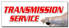 """12"""" TRANSMISSION SERVICE DECAL sticker tranny repair car repair service station"""
