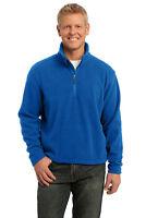 Port Authority Men's Polyester Long Sleeve 1/4 Zip Fleece Winter Pullover. F218