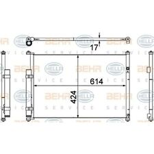 HELLA Kondensator, Klimaanlage 8FC 351 304-351 Suzuki Grand Vitara II JT