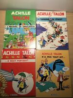 Achille Talon, French Comics, 4-Book Lot Hardcover, Very Good Condition