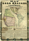 1848+Map+of+the+Gold+regions+of+California+Mining+11%22x15%22+History+Wall+Poster+