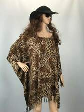 Kaftan Top | plus size Tunic | browns & black leopard animal print | Holley Day