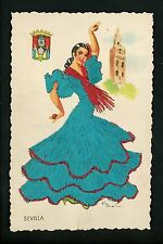 Embroidered clothing postcard Artist Gumier Spain Sevilla woman costumes