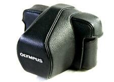 OLYMPUS Black Leather/Hide Grain Camera Ever-ready Case, OM-1/n OM-2/n OM-3 OM4