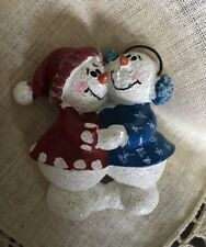 """Vintage Christmas Snowman 2"""" Brooch Pin Jewelry VC-19"""