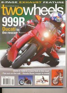 Two Wheels Magazine Sept 2004 K1200S GSX-R750 K1200LT DR650SE F650 749S Rune 999