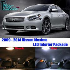 13x White LED Premium Lights Interior Package Kit for 2009 - 2014 Nissan Maxima