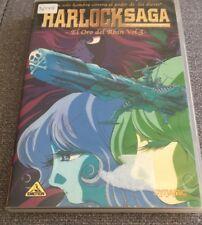 HARLOCK SAGA EL ORO DEL RHIN VOL 3 - OVAS 5 Y 6 - 1 DVD + EXTRAS PAL 2 - 98 MIN