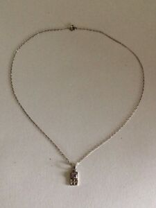Charles Rennie Mackintosh Style Sterling Silver & Amethyst Necklace
