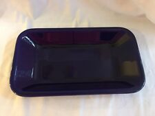 RARE Vintage SYCO Art Pottery Sweden Cobalt Blue Rectangular Serving Dish