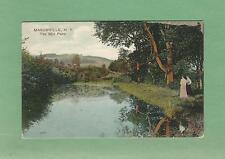 The MILL POND In MASONVILLE, NY On Vintage Unused 110 Year-Old Postcard