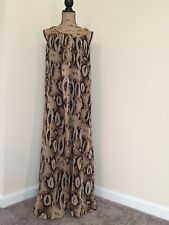 Cassee's Women's Flowy Snake Print Sundress W/ Embellished Collar Sz1X A-Line