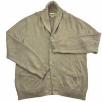 Men's Ralph Lauren Denim & Supply Natural Shawl Collar Cardigan Sweater Large