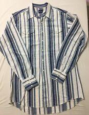Vtg Western Shirt Wrangler Long Tails  Rodeo Dancing Rockabilly 46 Chest 34 Long