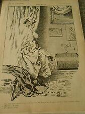 Nini Pose Girl Femme dénudée sein dessin de Gerbault  Print 1910