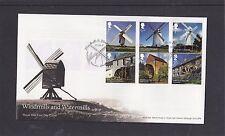 GB 2017 Windmills & Watermills Royal Mail FDC Brixton London pictorial pmk