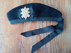 REPRODUCTION VICTORIAN ARMY GLENGARRY HAT WITH CAP BADGE