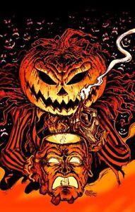 Halloween PUMPKIN KING Art Print Poster Jack O Lantern by Scott Jackson