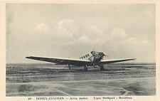 ISTRES AVIATION AVION JUNKER LIGNE STUTTGART - BARCELONE OLD AIRPLANE POSTCARD
