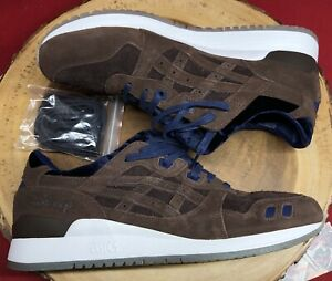 Asics Gel Lyte III 3 Disney Beauty And The Beast Coffee Bean Brown Blue Sz 11