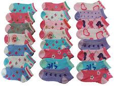 * 12 Paar Mädchen Sneaker Socken 23 24 25 26 27 28 29 30 31 32 33 34 35 36 37 38