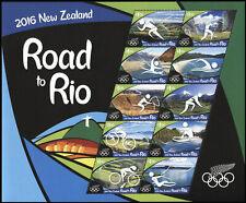 New Zealand 2016 Road to Rio Olympics Miniature Sheet MNH