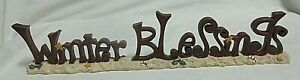 Crazy Mountain Winter Blessing Primitive Tabletop Sign