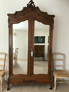 Louis XV French Armoire 100 years old hand carved masterful construction.