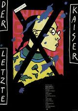 Der letzte Kaiser ORIGINAL DDR A1 Kinoplakat Bernardo Bertolucci / Peter O'Toole