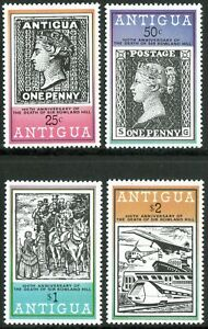 Antigua 1967 QEII 100th Anniv of Death of Rowland Hill set of 4 mint stamps MM