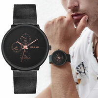 YOLAKO Men's Stainless Steel Quartz Band Luxury Strap Watch Analog Wrist Watch