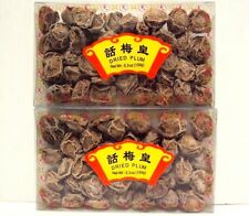 Lot 2 Dried Preserved Plum Perfect Sour-Sweet Snack 5.3oz ea Traditional Chinese