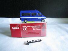 H0 Herpa Mercedes Benz T1N Transporter  THW Prenzlauer Berg blau neuwertig  OVP