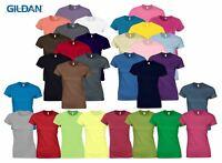 Gildan Womens Ladies Soft Style Plain Crew Neck T-Shirt Cotton Tee Tshirt