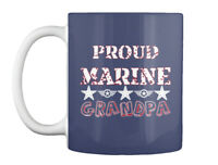Proud Marine Grandpa Gift Coffee Mug
