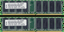 1GB (2X512MB) DDR MEMORY RAM PC2100 NON-ECC DIMM 266MHZ