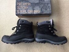Mens The North Face Chillkat II Winter Snow Walking Boots Black/Grey Size UK 8