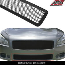 Fits 2009-2013 Nissan Maxima Carbon Steel Black 1.8 mm Wire Mesh Grille Insert