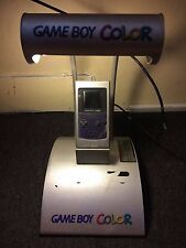 Nintendo Game Boy Color Purple Console Kiosk Includes Rare Demo Promo NEEDS WORK